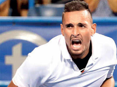 Kyrgios fights off back spasms to win Citi Open