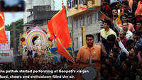 A glimpse of Ganesha Visarjan procession in the city