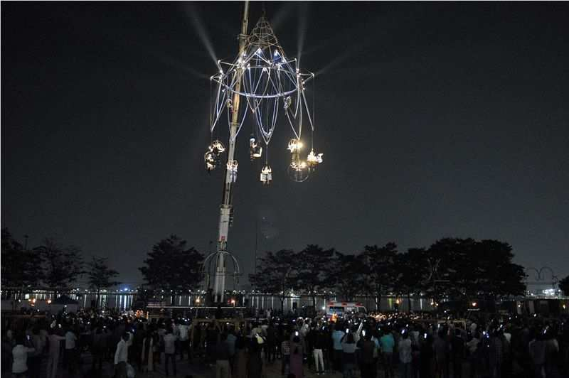 French performance company enchants with aerial show in Hyderabad