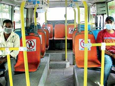 Covid scare throws AMTS, BRTS off gear