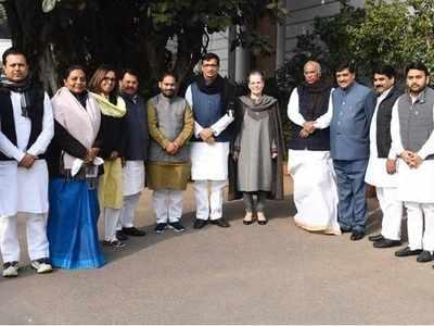 Maharashtra Congress ministers meet Sonia Gandhi, Rahul