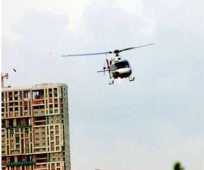 Helicopter operators debate height to fly at