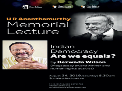 Bezwada Wilson is asking - Are We Equals?