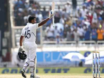 Rohit Sharma scores maiden double ton in Test cricket; India declare innings at 497/9 on Day 2