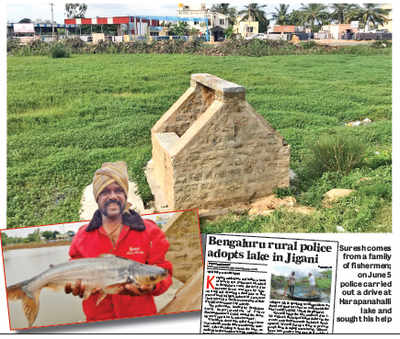 Harapanahalli Lake: Reformed goon gets fishing rights as return gift from police for helping with lake clean-up