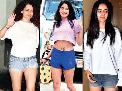 Janhvi Kapoor to Kangana Ranaut: B-town's ladies make the most of monsoons by flaunting gym-toned pins in shorts