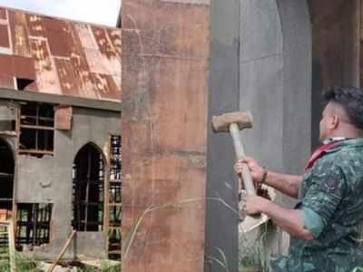 Miscreants vandalize church set of Malayalam film Minnal Murali at Kalady