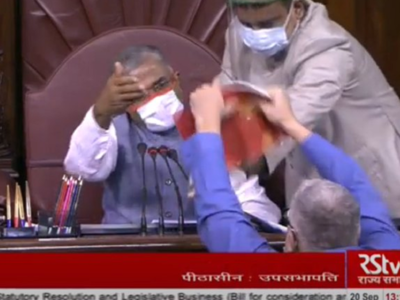 Derek O'Brien, Sanjay Singh and Rajiv Satav among eight Opposition MPs suspended from Rajya Sabha over ruckus on agriculture Bills