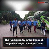 Bengalureans participate in a run to save Vrishabhavathi