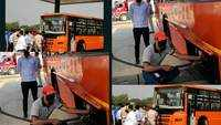 50 buses running on HCNG hit the roads in New Delhi