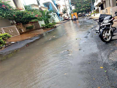 Sewage water overflows into this street at AECS Layout in Whitefield every other day due to drain blockage