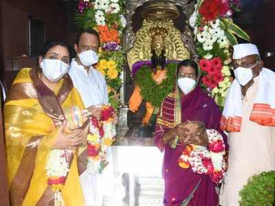 Deputy CM Ajit Pawar prays at Pandharpur temple for early coronavirus vaccine