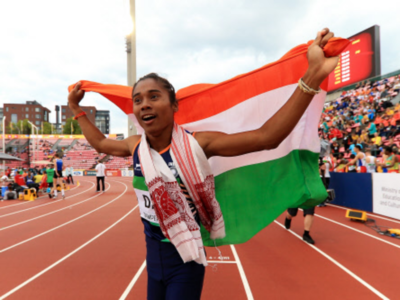 Hima Das wins third international gold within two weeks