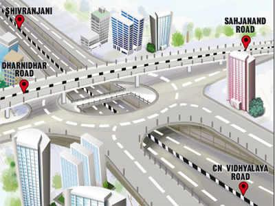 AMC proposes 3-layered flyover at Nehrunagar, Paldi crossroads