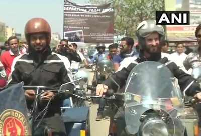 Carrying a message, two bikers embark on a journey from Pune to Scotland