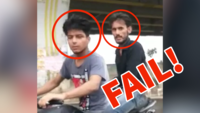 Watch: Amateur bike-borne snatchers steal smartphone, fail miserably