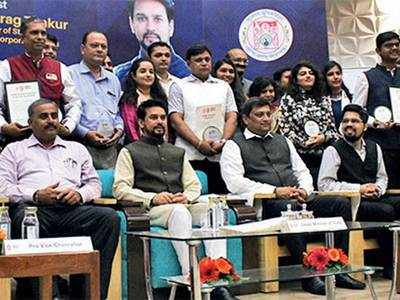 Anurag Thakur thanks GU for giving alumni like PM Modi, HM Shah