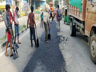 Potholes absent from road maintenance
