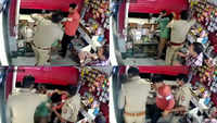 On cam: UP SHO beats shopkeepers to 'extort' money