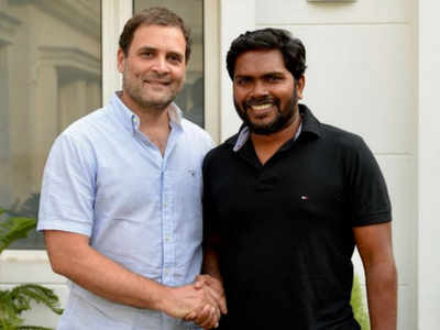 Kaala director Pa Ranjith meets Congress President Rahul Gandhi; discusses caste and religion