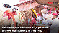 Erstwhile royal Padmanabh Singh performs shashtra puja on Dussehra