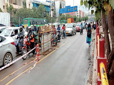 Only chain is constant  for BMTC bus lanes