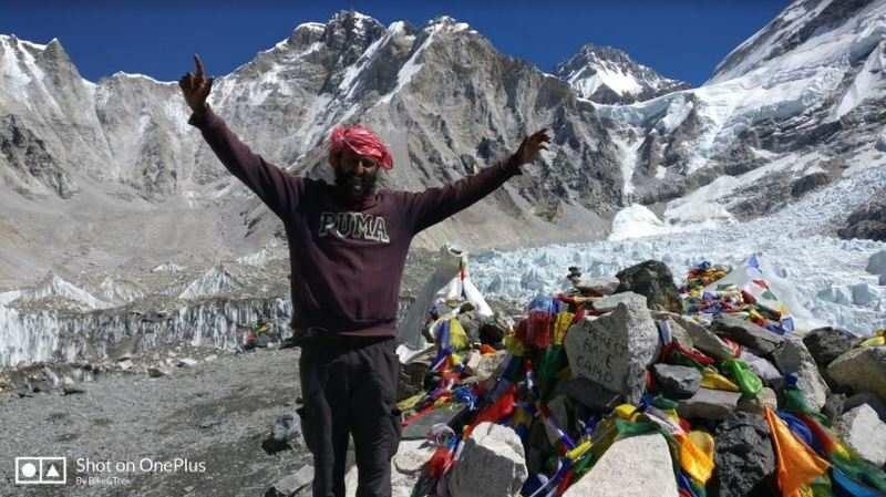 Bharath Ganapathy Uppangada's solo expedition