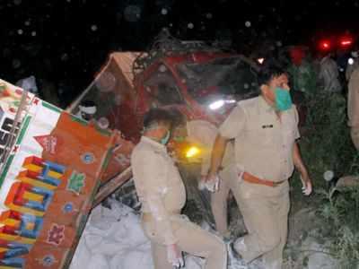 Uttar Pradesh: 24 killed after two trucks collide in Auraiya