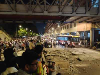 Photos: FOB outside CSMT collapses, five dead