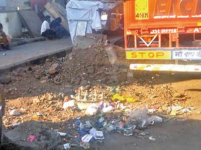 PCMC finally covers the pit in Kalewadi