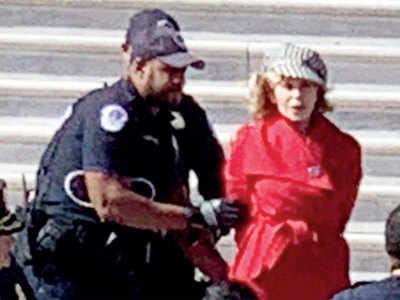 Actor Jane Fonda arrested during climate change protest