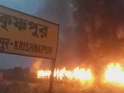 West Bengal turns into warzone: Buses, trains and two wheelers set on fire in protest against CAB, NRC