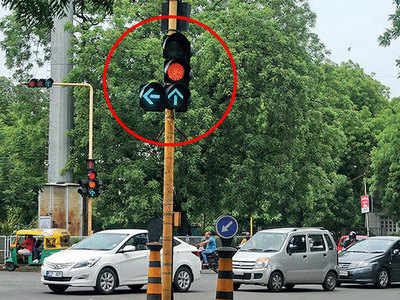 All traffic lights are on, which one will you follow?