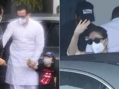 Photos: Kareena Kapoor Khan, Saif Ali Khan jet off to New Delhi