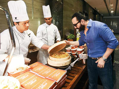 Spotted: Saif Ali Khan at a Juhu hotel