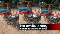 Viral video: Woman taken to hospital on cot tied to bike in MP