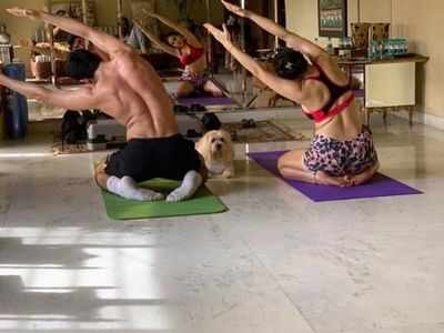 In Photos: Guess who joined Sara Ali Khan and Ibrahim for a yoga session