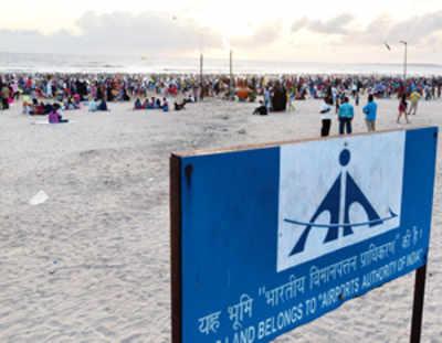 Juhu beach is for our runway, says AAI; halts beautification