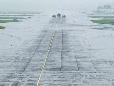 AI flight overshoots slippery runway, 180 flights delayed
