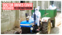 Doctor drives COVID deceased to crematorium in a tractor in Telangana