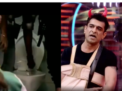 Bigg Boss 14: Eijaz Khan asks Jaan Kumar Sanu to dip his hand in toilet, wipe it on his shirt
