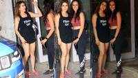 Sara Ali Khan flashes her million dollar smile as she gets papped outside pilates class