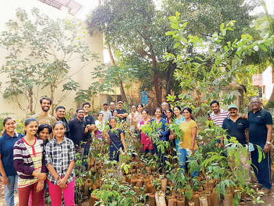 Karnataka: Green group plants away for a few forests more