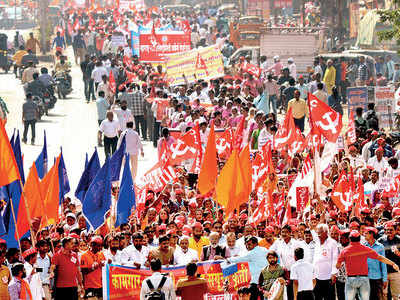 Life hit across states in bandh by trade unions
