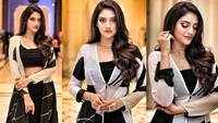 Actor-turned-MP Nusrat Jahan looks beautiful in a head turning black and white outfit