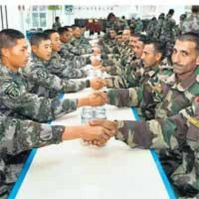 Indian, Chinese forces swap gifts, pleasantries