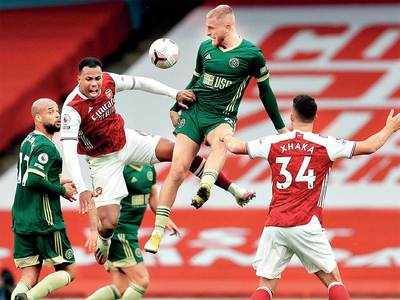 Arsenal down off-colour Sheffield United 2-1