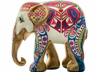 Here comes the elephant parade