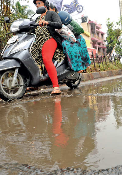 Potholes haven't gone but Palike's engineers have returned already