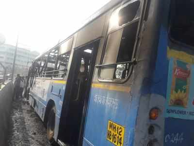 PMPML bus catches fire on way to Kothrud, passengers have narrow escape